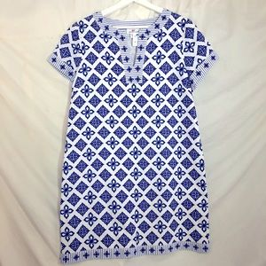 Vineyard Vines Blue & White Pattern Dress Size 10